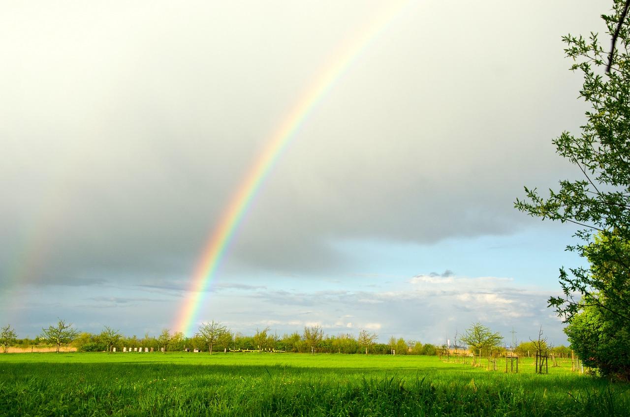 Солнечная радуга картинка