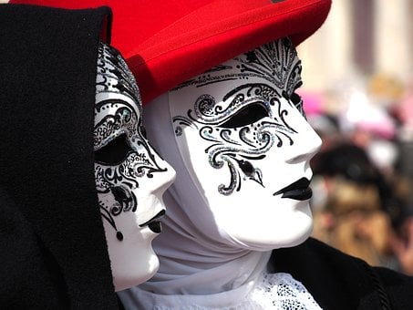 Carnival, Venice, Mask, Italy, Costume