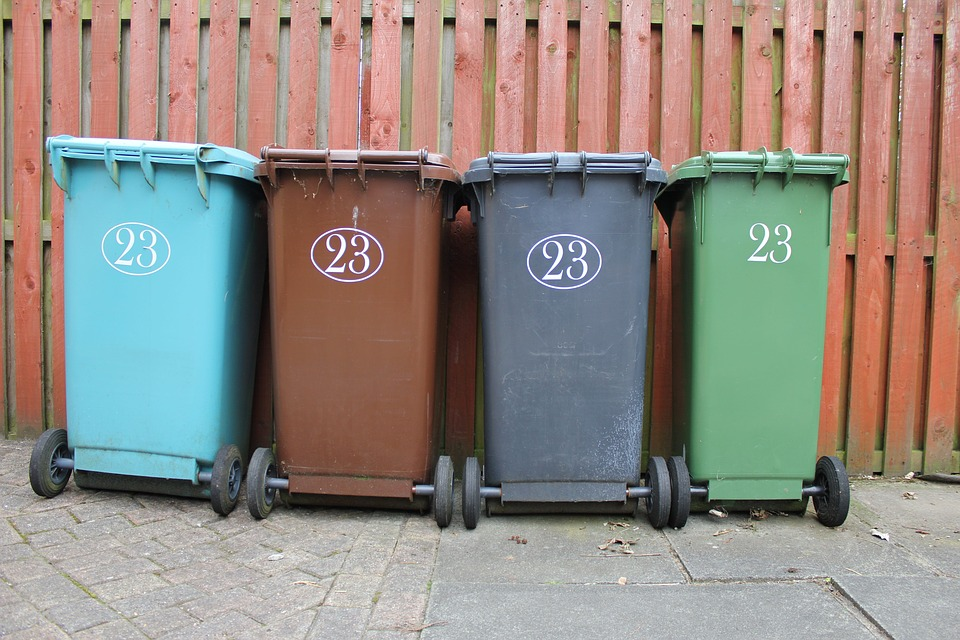 Wheelie Bin, Garbage, Rubbish, Waste, Dustbin, Paper