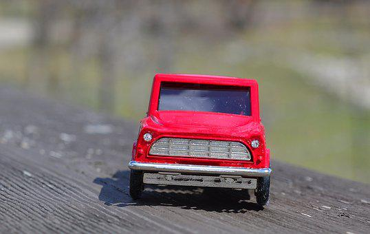 Truck, Front, Red, Vehicle, Car
