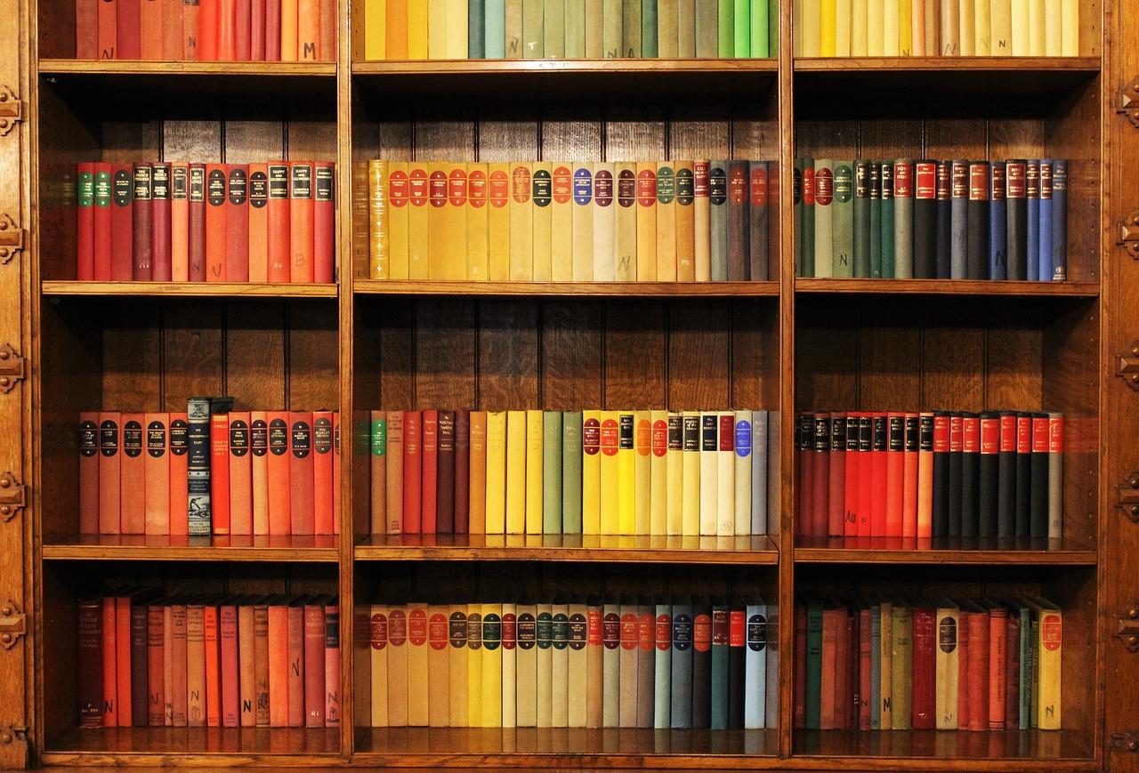 Бесплатная фотография: книг, книжная полка, библиотеки - бес.