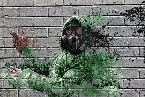 Gas Mask Hip Hop Gas Earth Mask Pollution