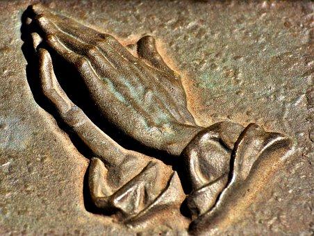 Praying Hands, Metallic, Religious