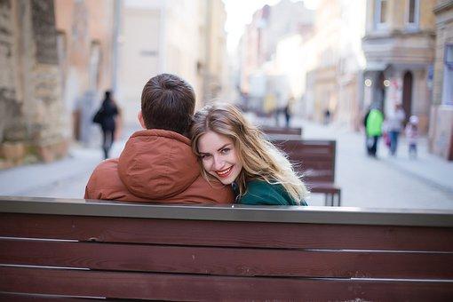 日付, 近さ, 幸福, 笑顔, 女性, 男, 信頼, ロマンス, 優しさ, 愛