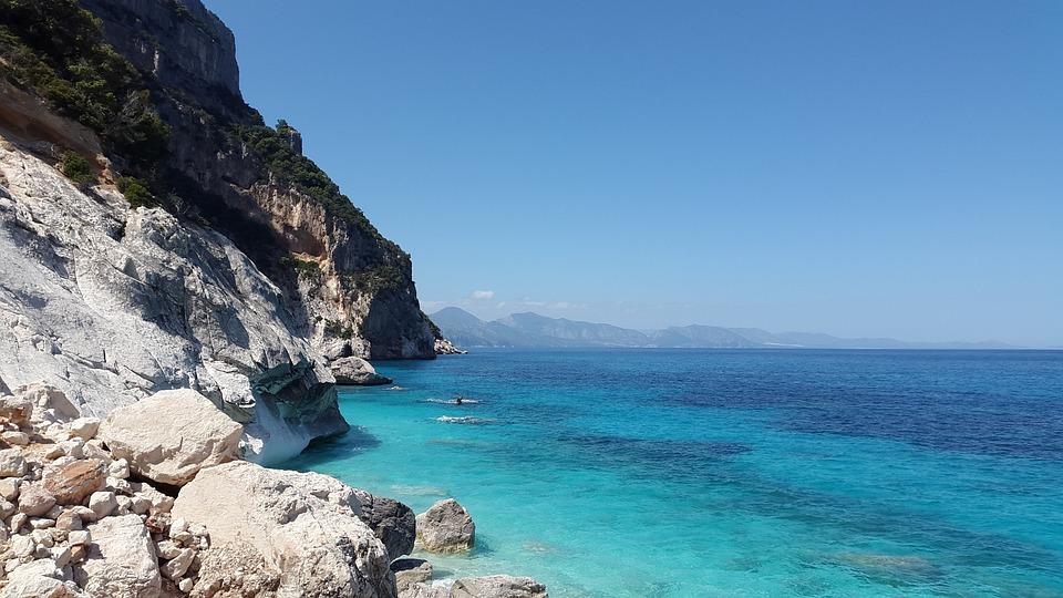 Mediterrane, Turkoois, Zee, Blauwe, Strand, Kust