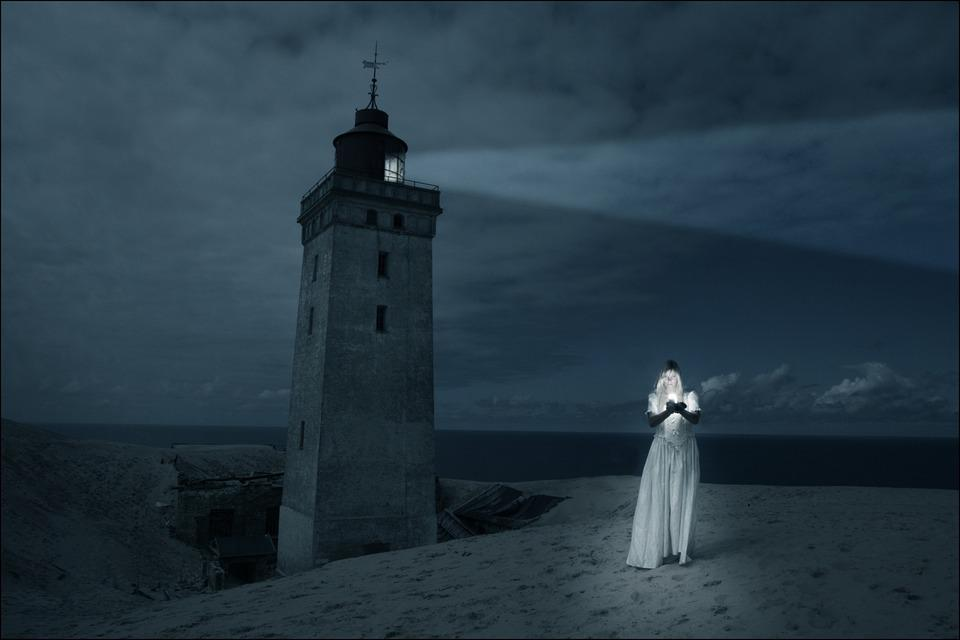 Free Photo Lighthouse Girl Woman Dark Free Image On