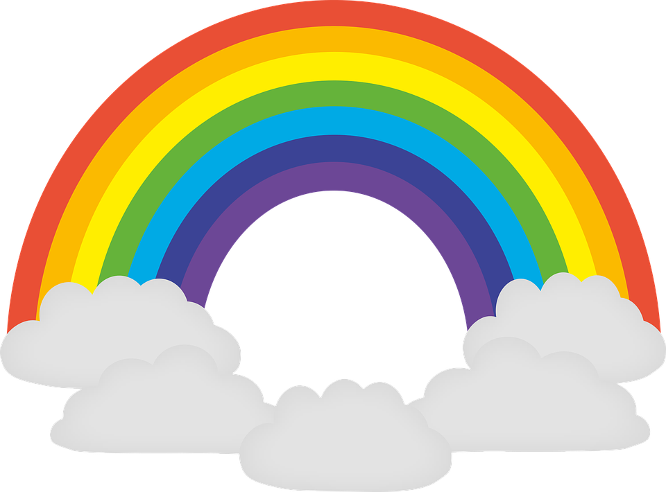 Rainbow, Colorful, Prism, Chromatic, Hope, Joy, Clouds