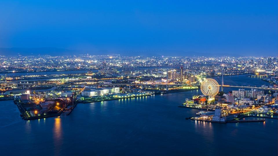 大阪港, 日本, アーキテクチャ, 自然, メトロポリス, ダウンタウン, 風景, ポート, 市, 港