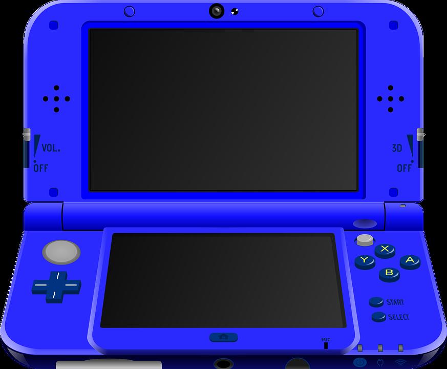 Nintendo, Handheld, Blue, Portable, Game, Console