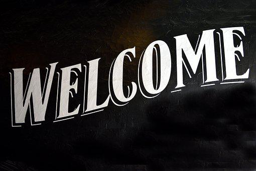 Welcome Sign, Signage, Background, Sign