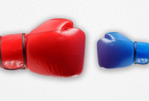 戦う, ボックス, 不当です, 弱い, 強い, 小, に対して, 大規模な