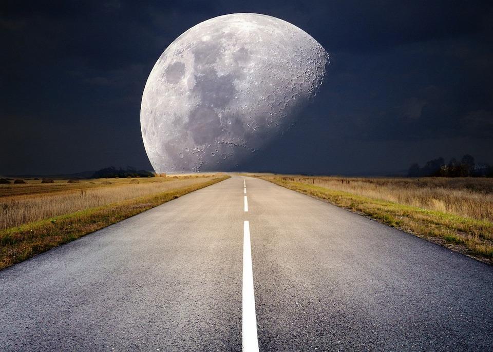 Luna, Luna Llena, Luz De La Luna, Luna Súper, Noche