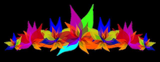 Flowers multi color colorful free image on pixabay for Stuhl transparent design