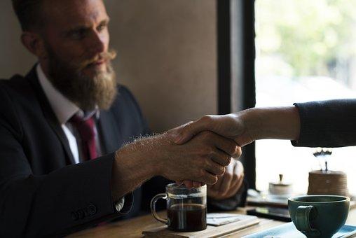 契約, 髭, ブレーンストーミング, ビジネス, ビジネスマン, 通信, 飲み物