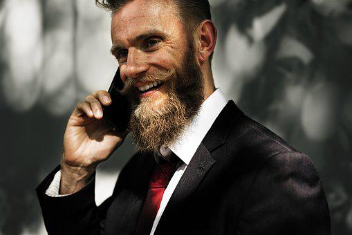 Beard, Business, Business People