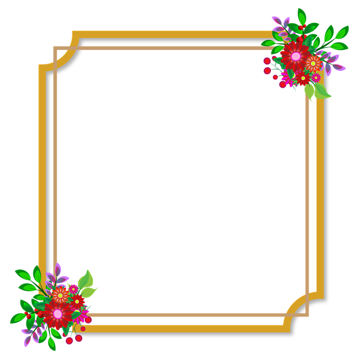 Frames Floral Em Png: Photo Frame Flowers Wedding · Free Image On Pixabay