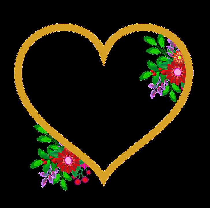 Marco De Fotos Corazón Flores · Imagen gratis en Pixabay