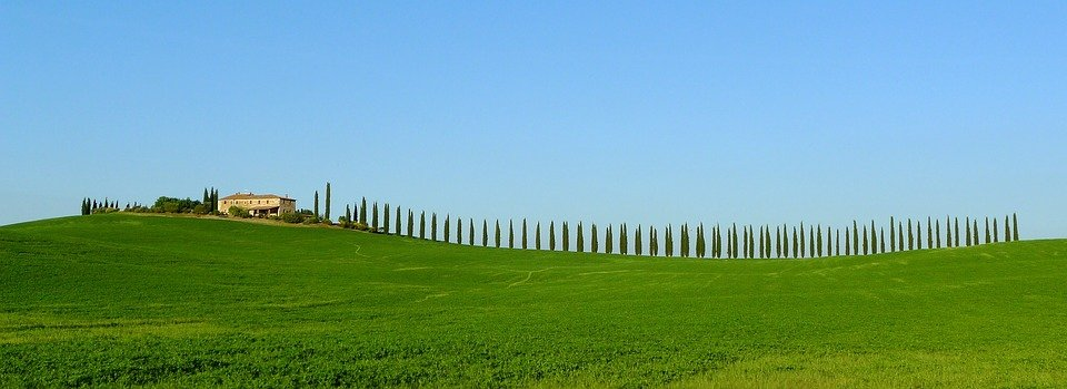 Tuscany, Cypress, Maison De Ferme, Scénique, Panorama - Twelve Magazine