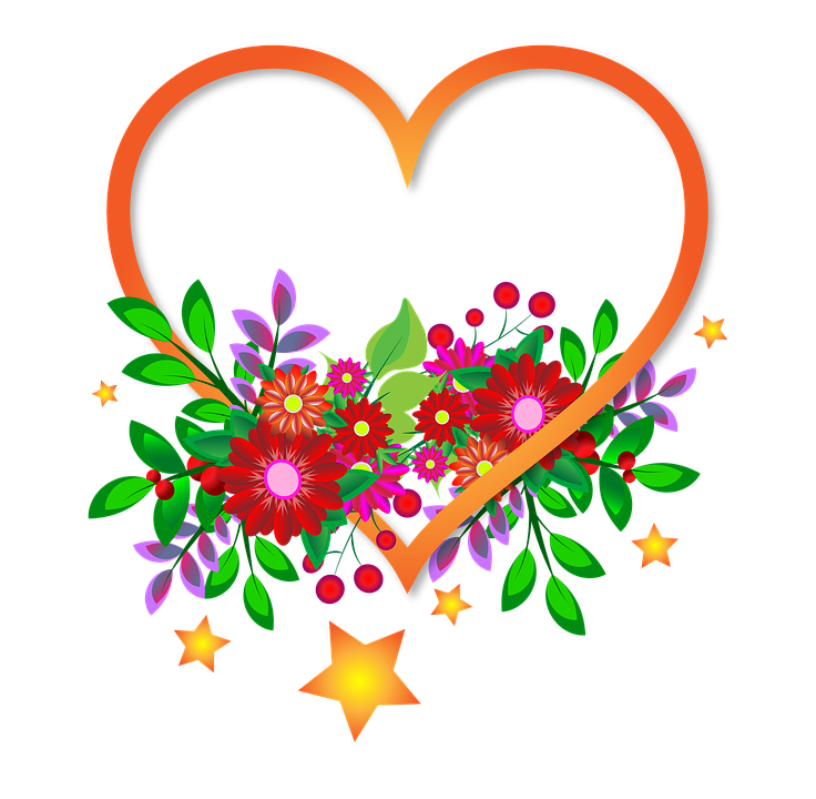 Heart Flowers Sign Transparent · Free image on Pixabay