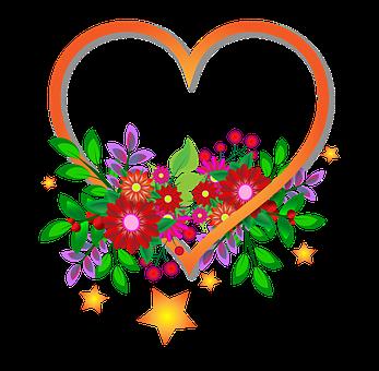 Sydän, Kukat, Merkki, Läpinäkyvä Tausta