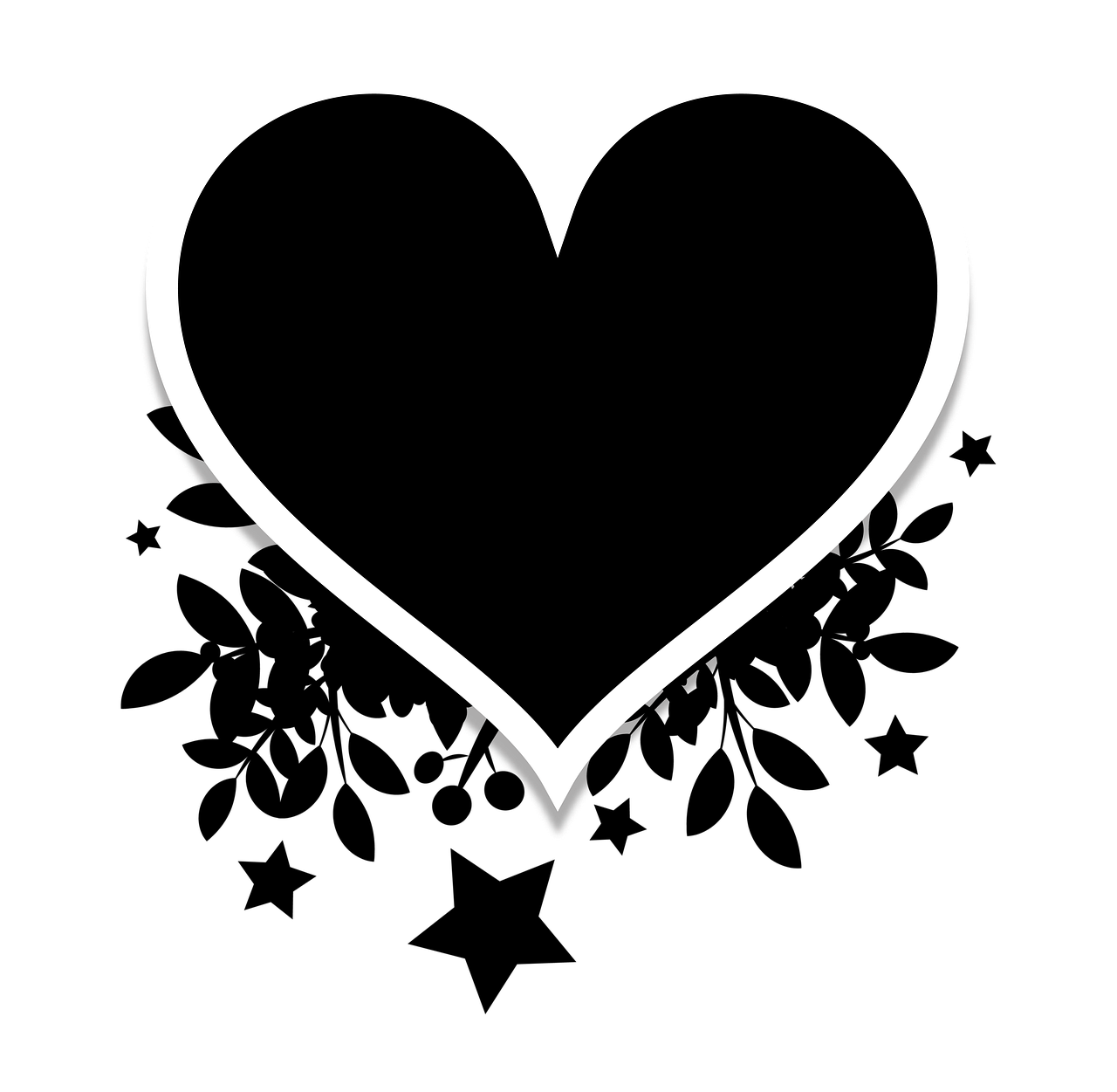 Silhouette Heart Black Free Image On Pixabay