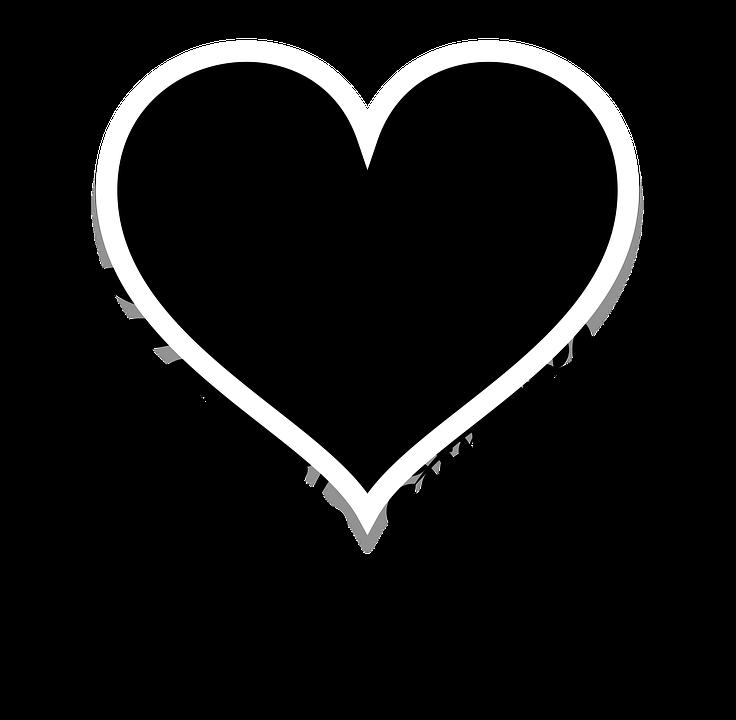 Silhouette Heart Black Free Image On Pixabay