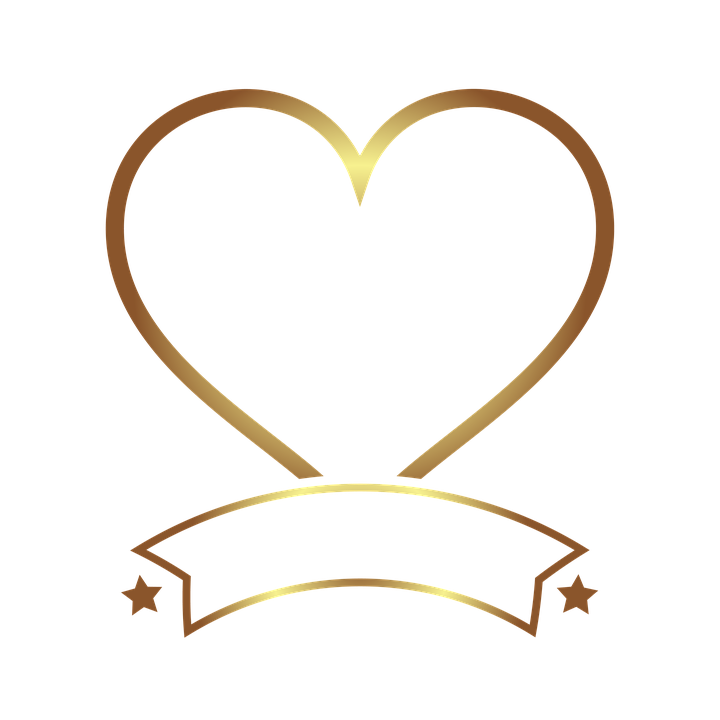 Marco De Fotos Oro Corazón · Imagen gratis en Pixabay