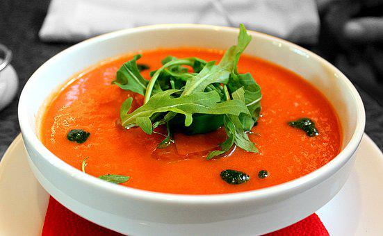 Tomato Soup, Soup, Gazpacho, First Meal