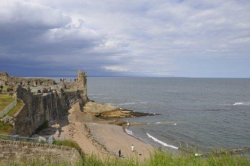 St Andrews, Castle, Ru, Fife, Scottish