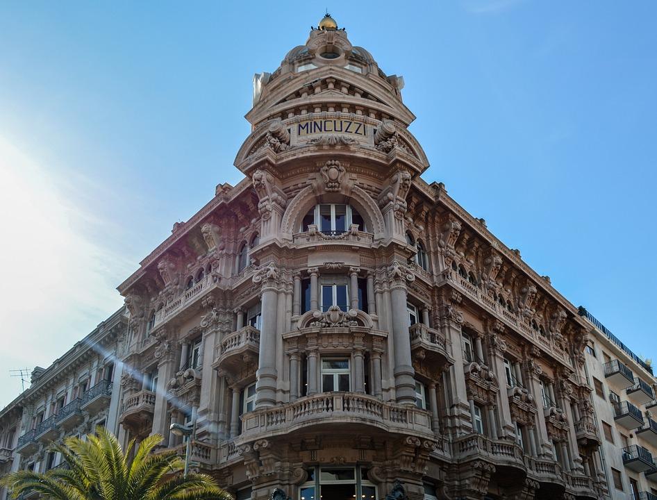Bari, Palazzo Mincuzzi, Włochy, Palace, Budynku