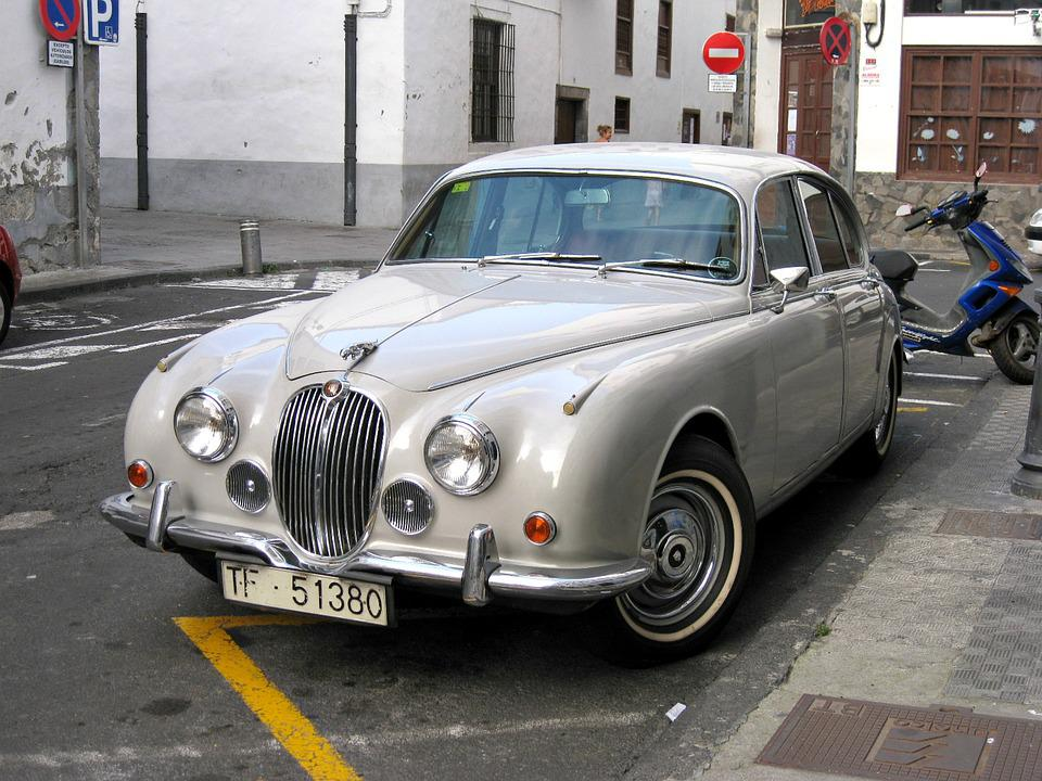 Delightful Jaguar Car Classic Vehicle Retro Chrome Transport