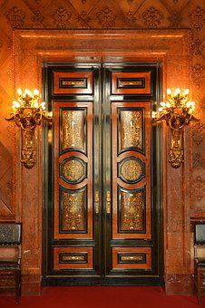 Door, Town Hall, Hamburg, Architecture