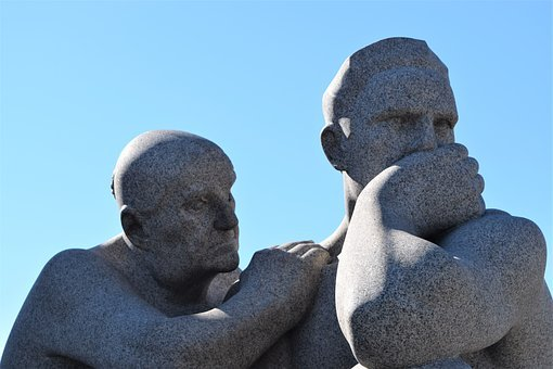 Thoughtful statues in Oslo for create thought-provoking content for your website