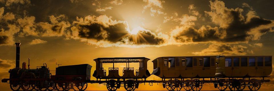 De Transporte, Ferrocarril, Tren, Carriles, Locomotora