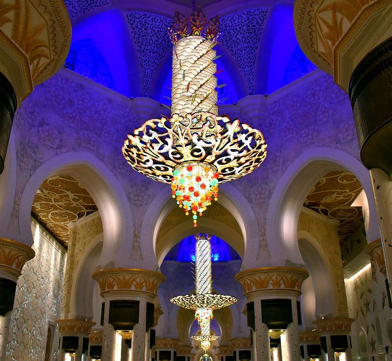Lustre, Mosquée Sheikh Zayed, Abhu Dhabi, Décoration