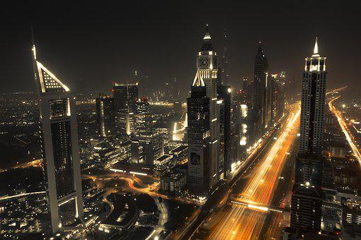 Dubai, Skyline, City, Architecture