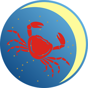 Cancer, Zodiac Sign, Zodiac, Moon, Star