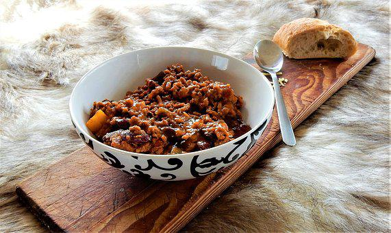 Chili Con Carne, Food, Warm, Bread