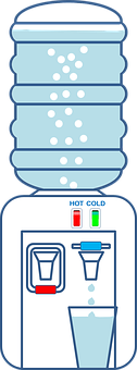 Dispenser, Water, Drink, Hot, Cold