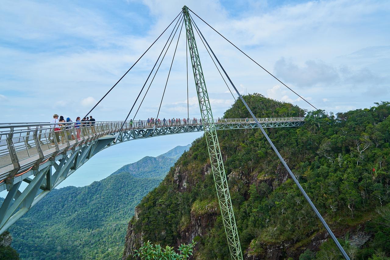 Подвесной мост в картинках