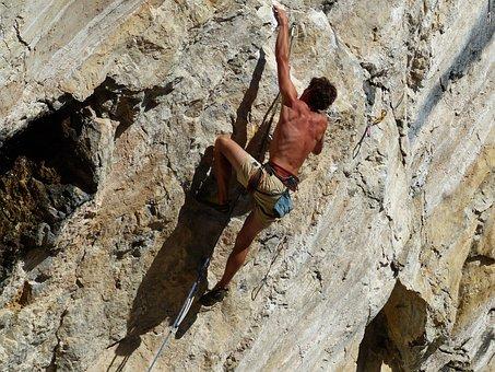 Climb, Free Climbing, Sun, Rock, Nature