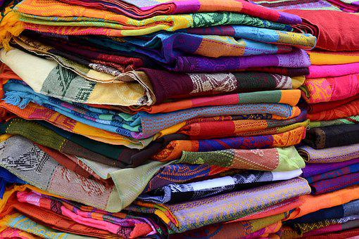 Towels, Fabric, Woven, Colorful, Color