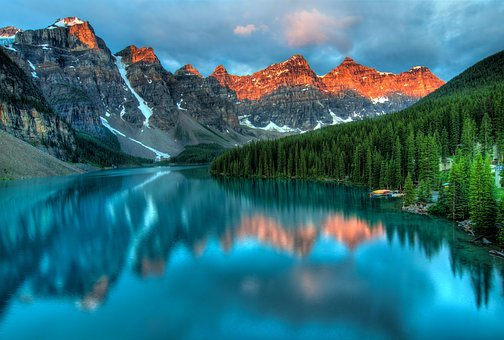 Alberta, Canada, Lake, Mountains, Banff