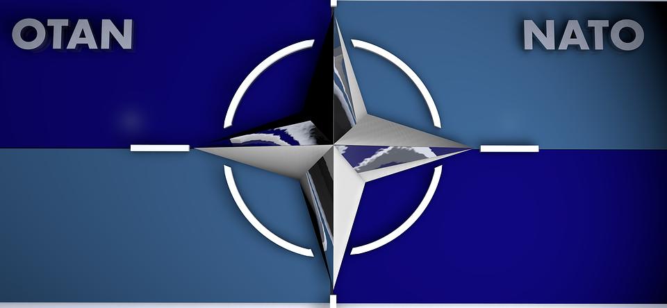 Logo, L'Otan, Bleu, Métal, Star