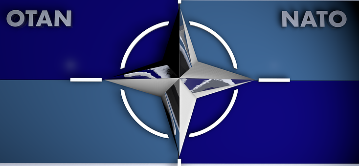 Logo, Nato, Blue, Metal, Star