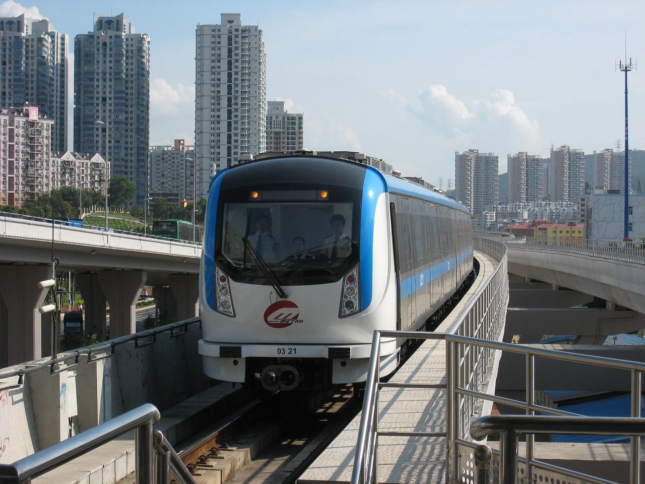 Shenzhen, Metro, Kolejowe, Koleją, Podróży, Miejskich