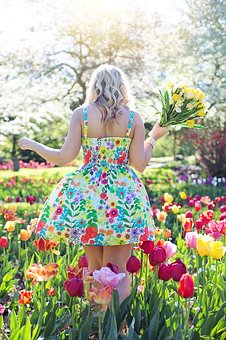Spring, Tulips, Pretty Woman