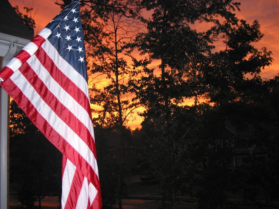 Флаг Американский Закат - Бесплатное фото на Pixabay