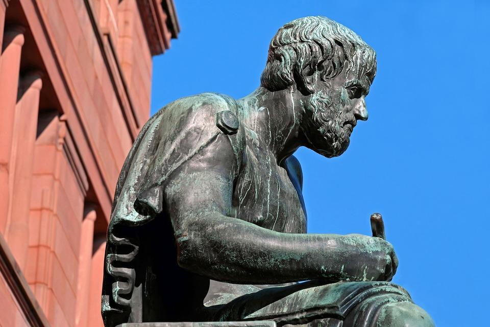 Escultura, Bronce, Figura, Aristóteles, Filósofo