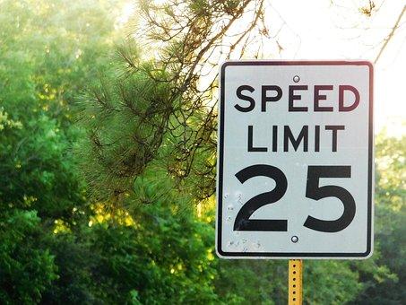Limit, Speed, Truck, Lead, Usa, Signal
